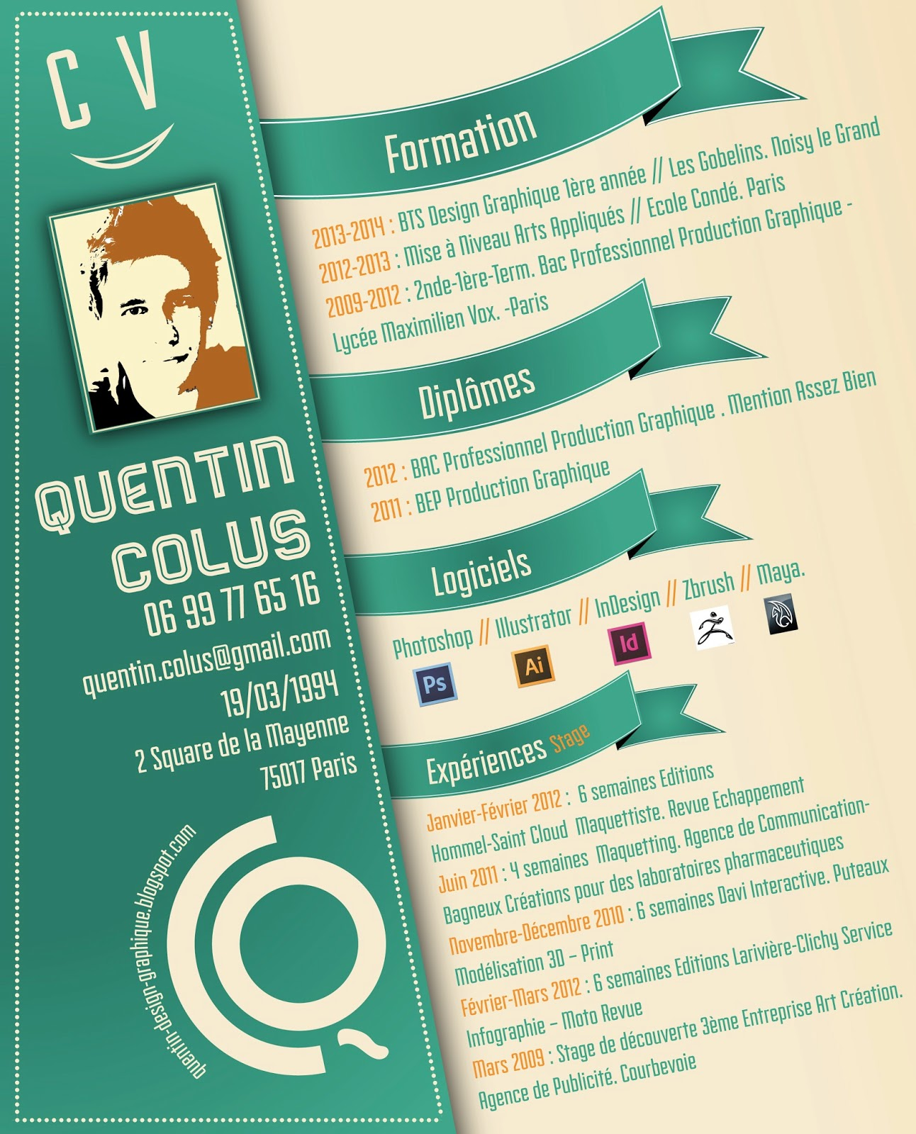 cv design graphique ad36