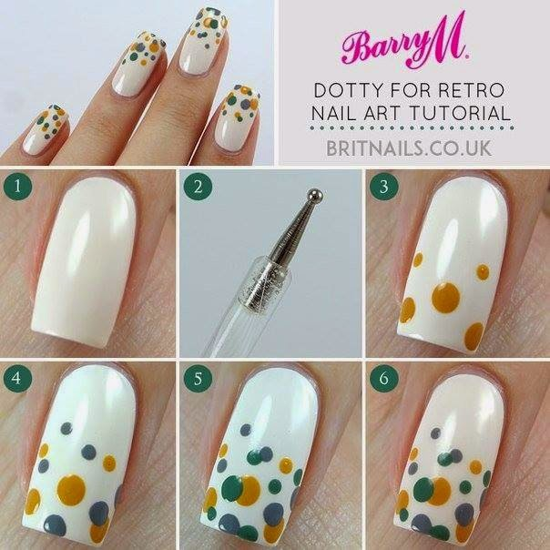 Nails Art Step By Step Tutorial #16..
