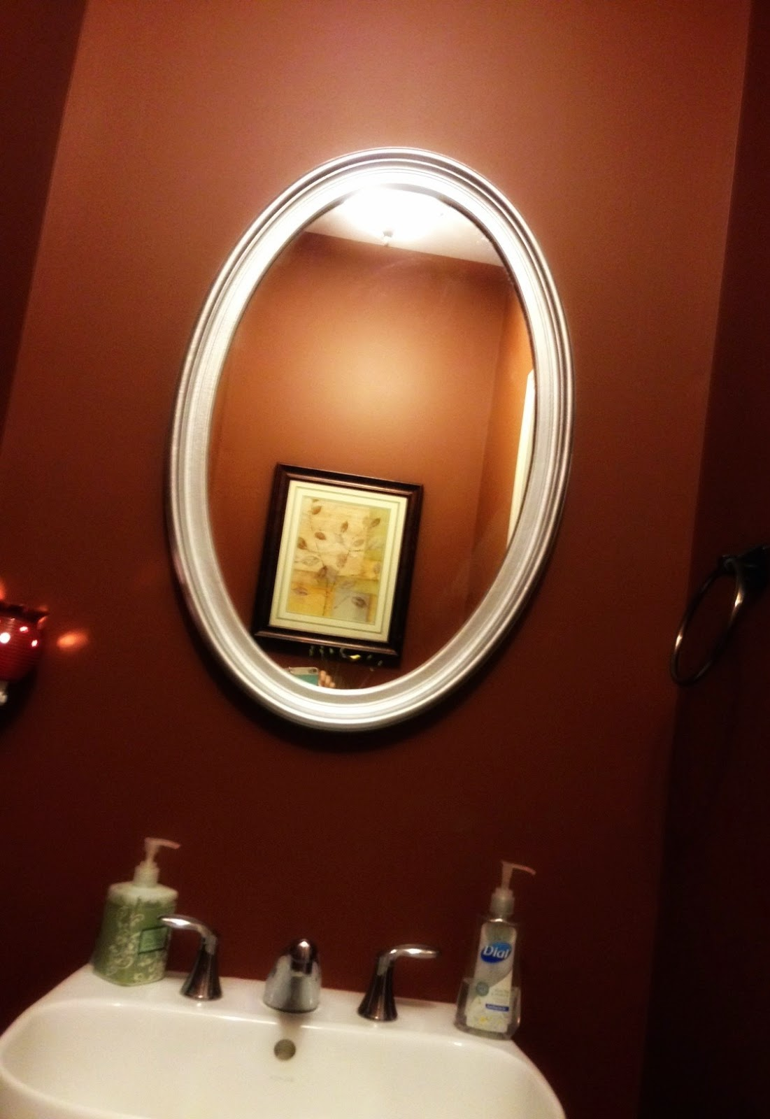 bathroom mirror, spray painting mirror