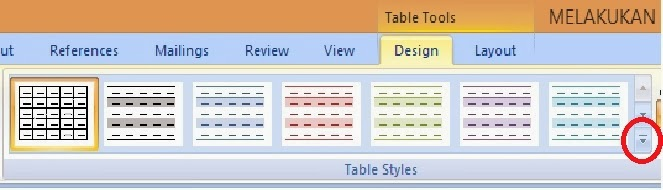 More Design Table Style