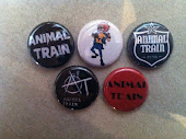 Animal Train Buttons