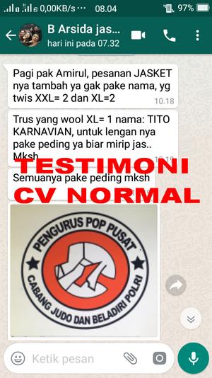 TESTIMONI PEMBELIAN JASKET SERAGAM CV NORMAL