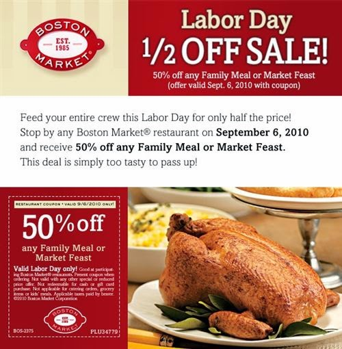 Boston market coupon codes