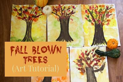Fall Blown Trees (Art Tutorial)