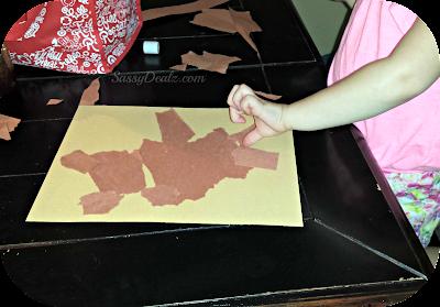 teddy bear kids rip paper project