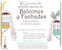 V Concurso de embellecimiento de balcones y fachadas Semana Santa Ciudad de Cartagena 2021
