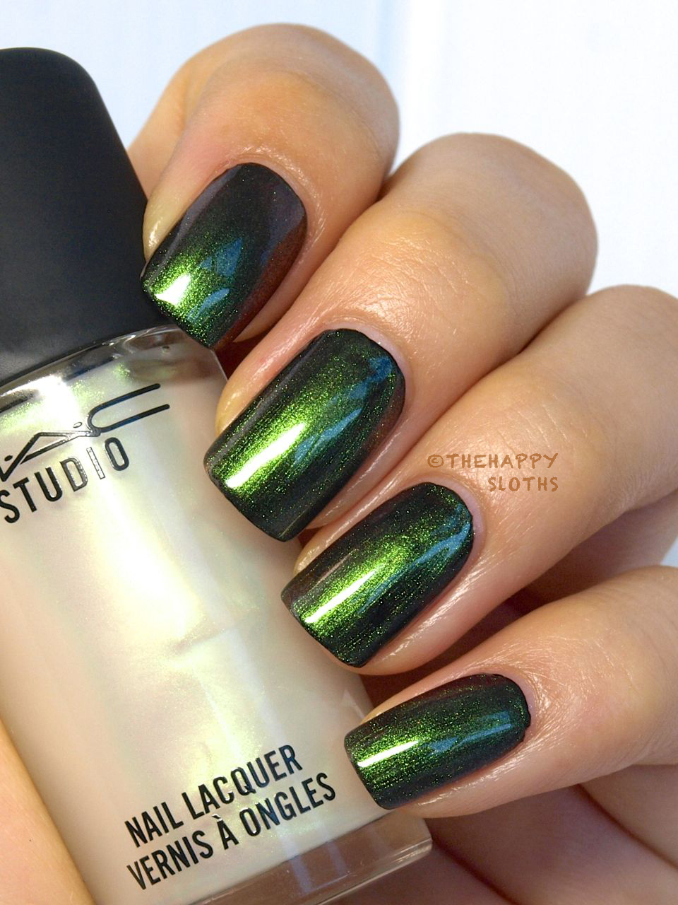 "M∙A∙C Nail Transformations Nail Lacquer in ""Pink Pearl"" & ""Green Pearl"": Review and Swatches"