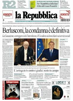 La prima pagina del 2 agosto 2013