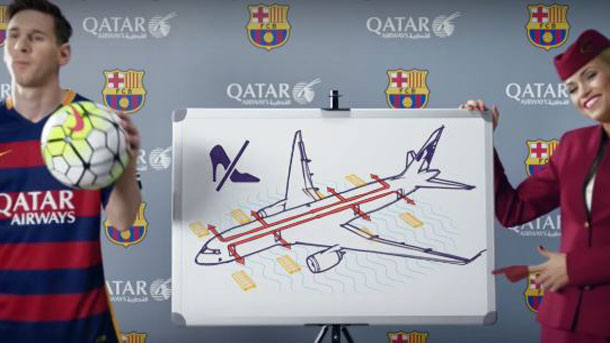El anuncio de Qatar Airways con los jugadores del Barça, fenómeno viral