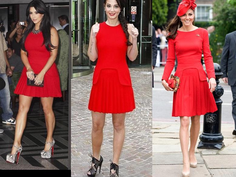 El vestido rojo de kate middleton