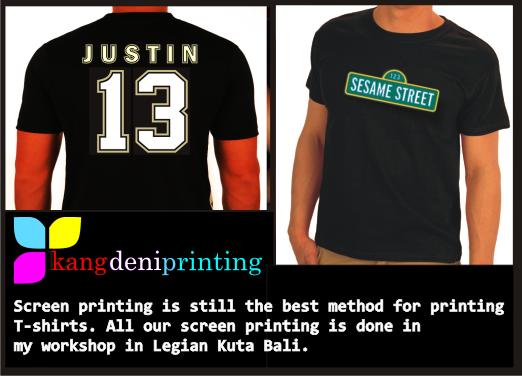 Printing T Shirt Singlet In Kuta Bali Bali Stubby