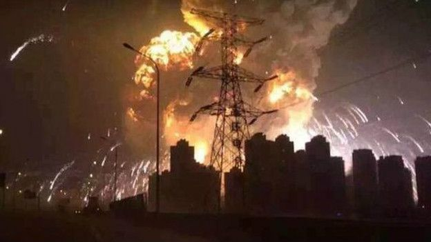 Explosion in Tianjin China