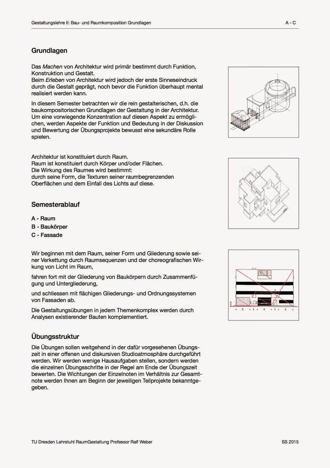 Aufgabe a 0 analyse einer raumfolge gestaltungslehre for Raumgestaltung analyse