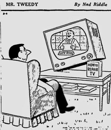 Cartoon strip mr frisbie