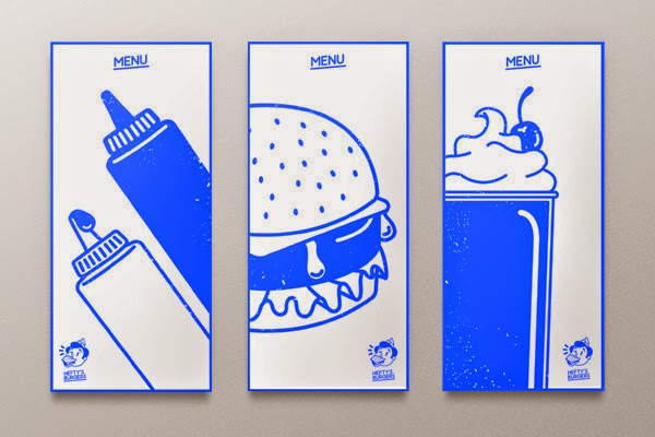 graphic design project, hefty's burger branding project, fast food packaging, lifestyle design blog