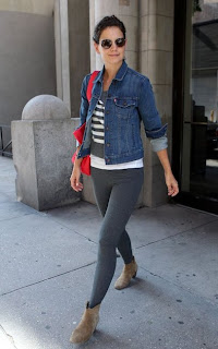 Katie Holmes in ankle boots