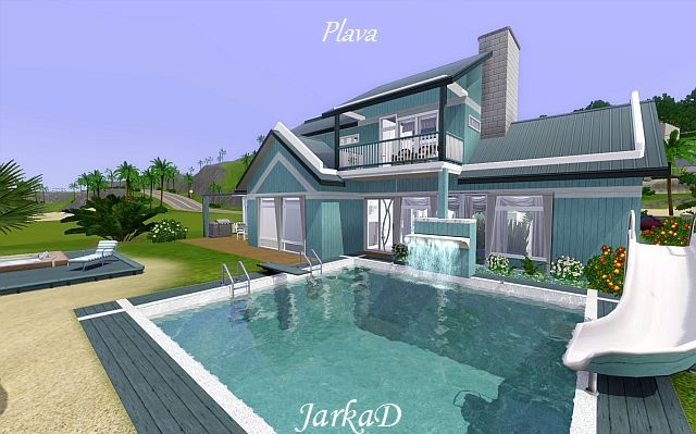 My sims 3 blog beach house by jarkad for Beach house designs for sims 3