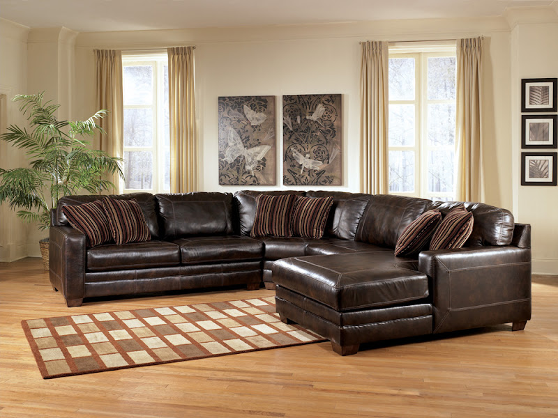 Ashley Furniture Leather Sectional (6 Image)