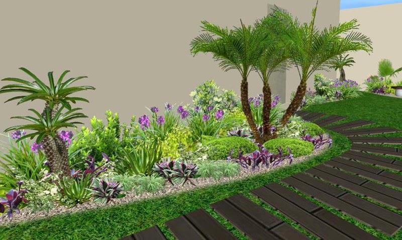 Jardines modernos para casas v rias id ias - Diseno de jardines pequenos para casas ...