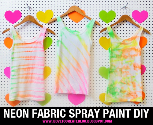 ilovetocreate blog neon fabric spray paint shirt diy. Black Bedroom Furniture Sets. Home Design Ideas