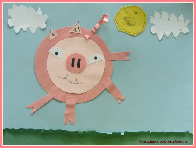photo of: This Little Dancing Piggy Art Project: Concentric Circles in Children's Art