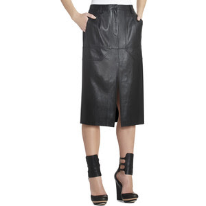 BCBG Petra Leather Skirt