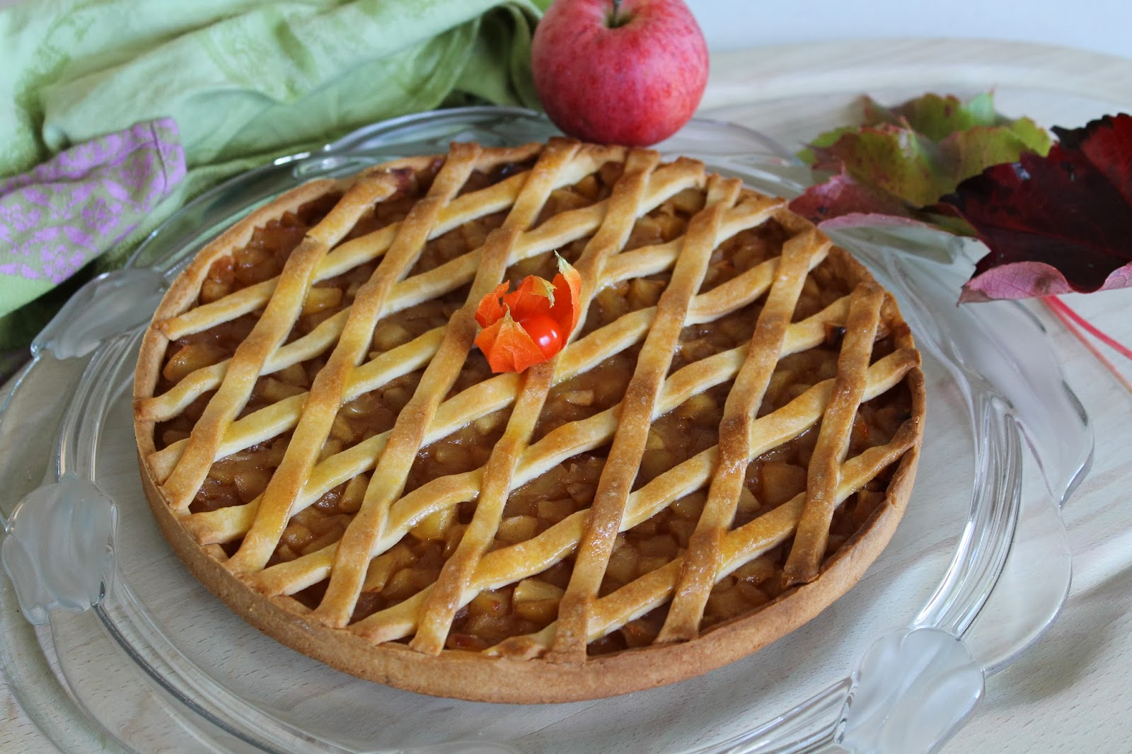 l 39 all e des desserts tarte la compote de pommes cannelle. Black Bedroom Furniture Sets. Home Design Ideas