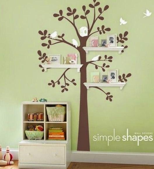 Repisas con forma de rbol para habitaciones cositasconmesh for Formas para decorar un cuarto