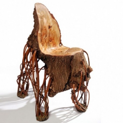Willow Wood Weird Chair Close To Nature Spicytec