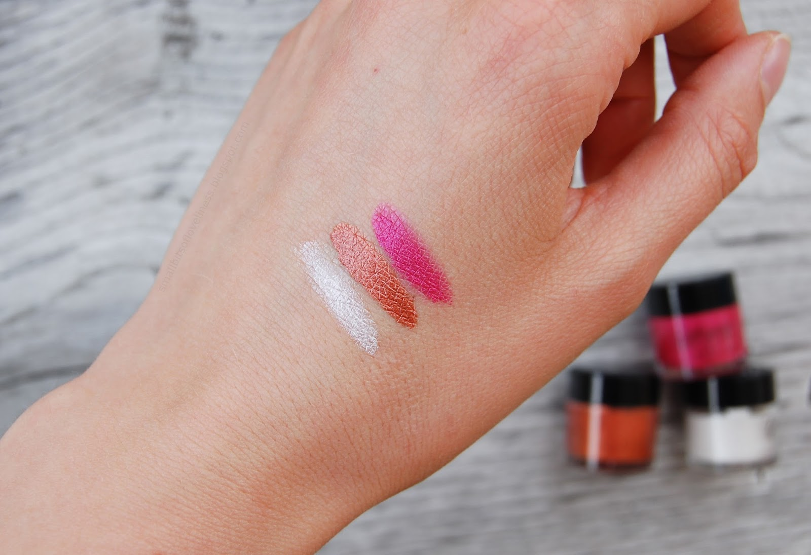 Delizioso Skincare Tara Collection swatches