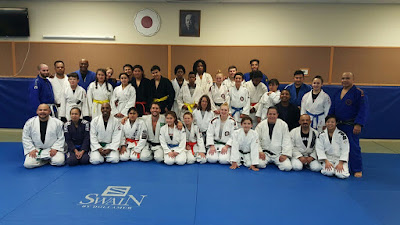 Gompers judo kids at the clinic