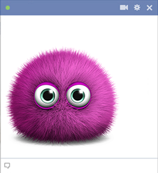 Purple fuzz emoticon