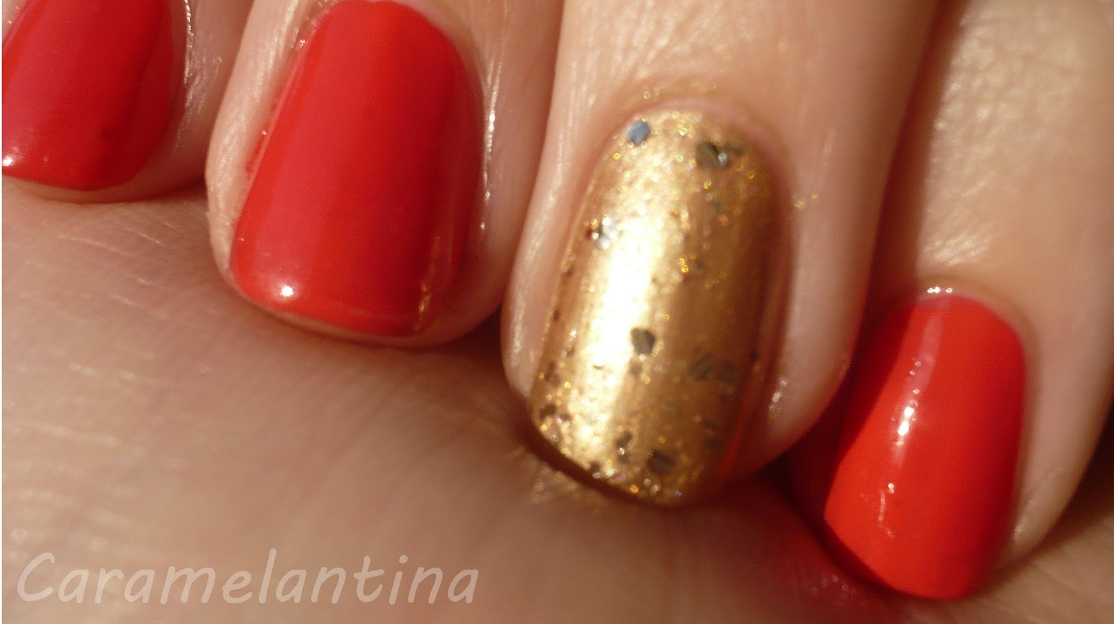 Maybelline Rose Salsa, Regina Day, Revlon Gold Coast, Hey, Nice Nails! Shine Glitter, opiniones swatch review