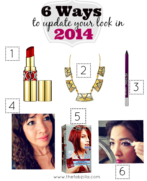 easy ways to update look this year, how to be happy, perfect red lipstick, radiant orchid, how to groom brows, beyonce hair
