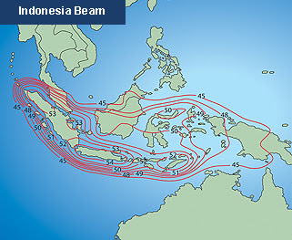 Beam Measat3 91° E