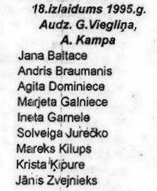 Valles vidusskolas 18. izlaidums 1995. gadā