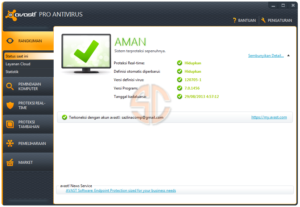 avast! Pro Antivirus 7.0.1456 Full License Key