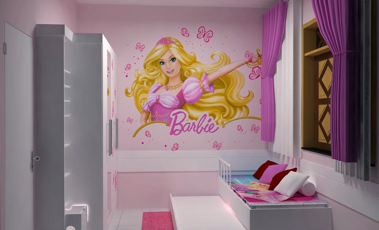 Em casa de Maria Um Quarto de Barbie