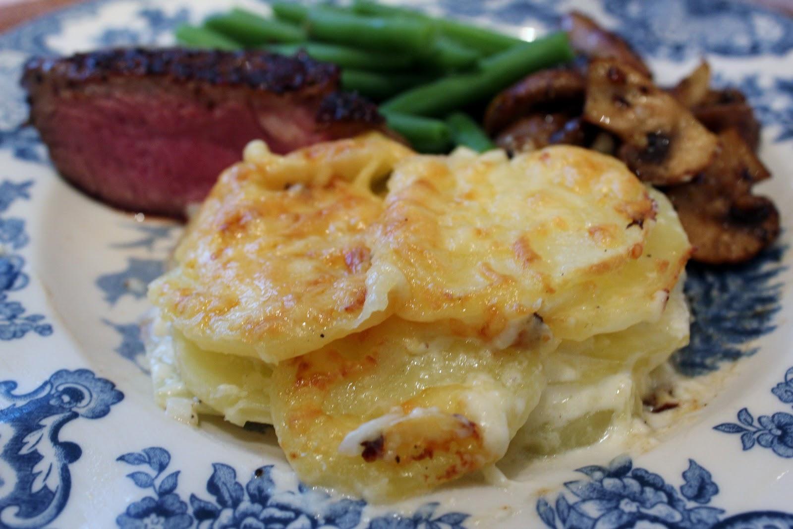 fløtegratinerte poteter ovn