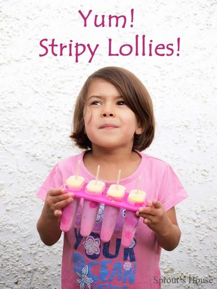 Stripy Fruit Lollies