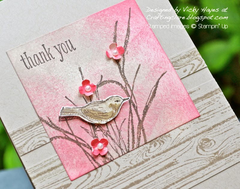 Peaceful Petals by Stampin Up online from Vicky at Crafting Clares paper moments