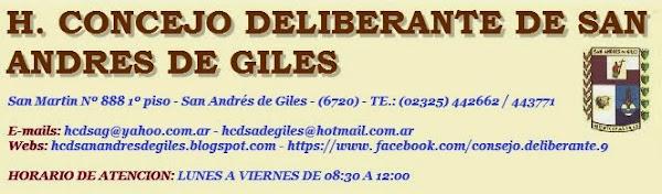 H. CONCEJO DELIBERANTE DE SAN ANDRES DE GILES