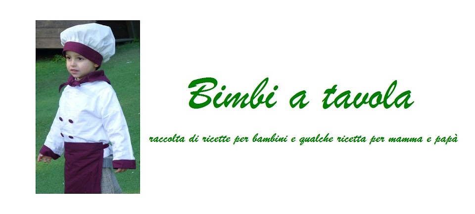 bimbi a tavola