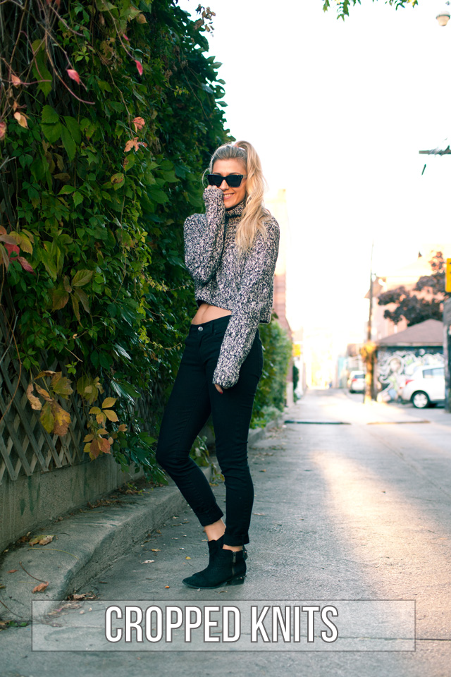 cropped knits, fall fashion, crop tops