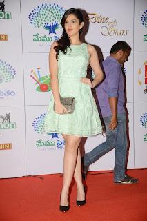 Deeksha Seth in Hyderabad wearing a veruy tiny light green dress Stunning Cute Beauty