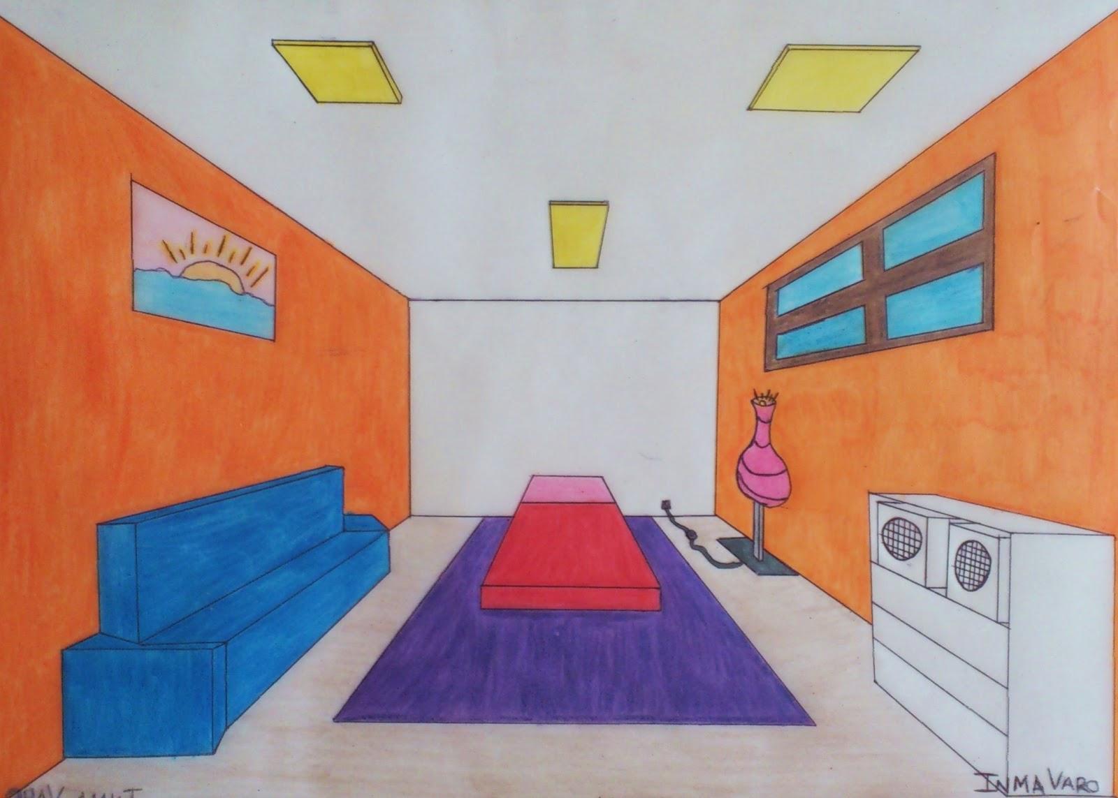 Perspectiva conica central - Habitacion en perspectiva conica ...