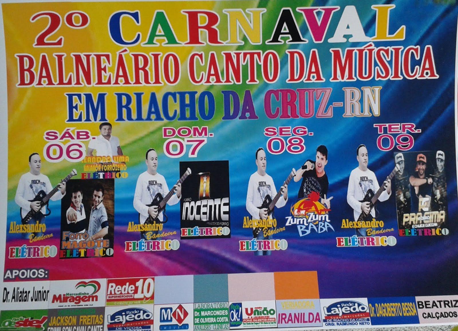 CARNAVAL NA ADEGA CANTO DA MÚSICA EM RIACHO DA CRUZ-RN