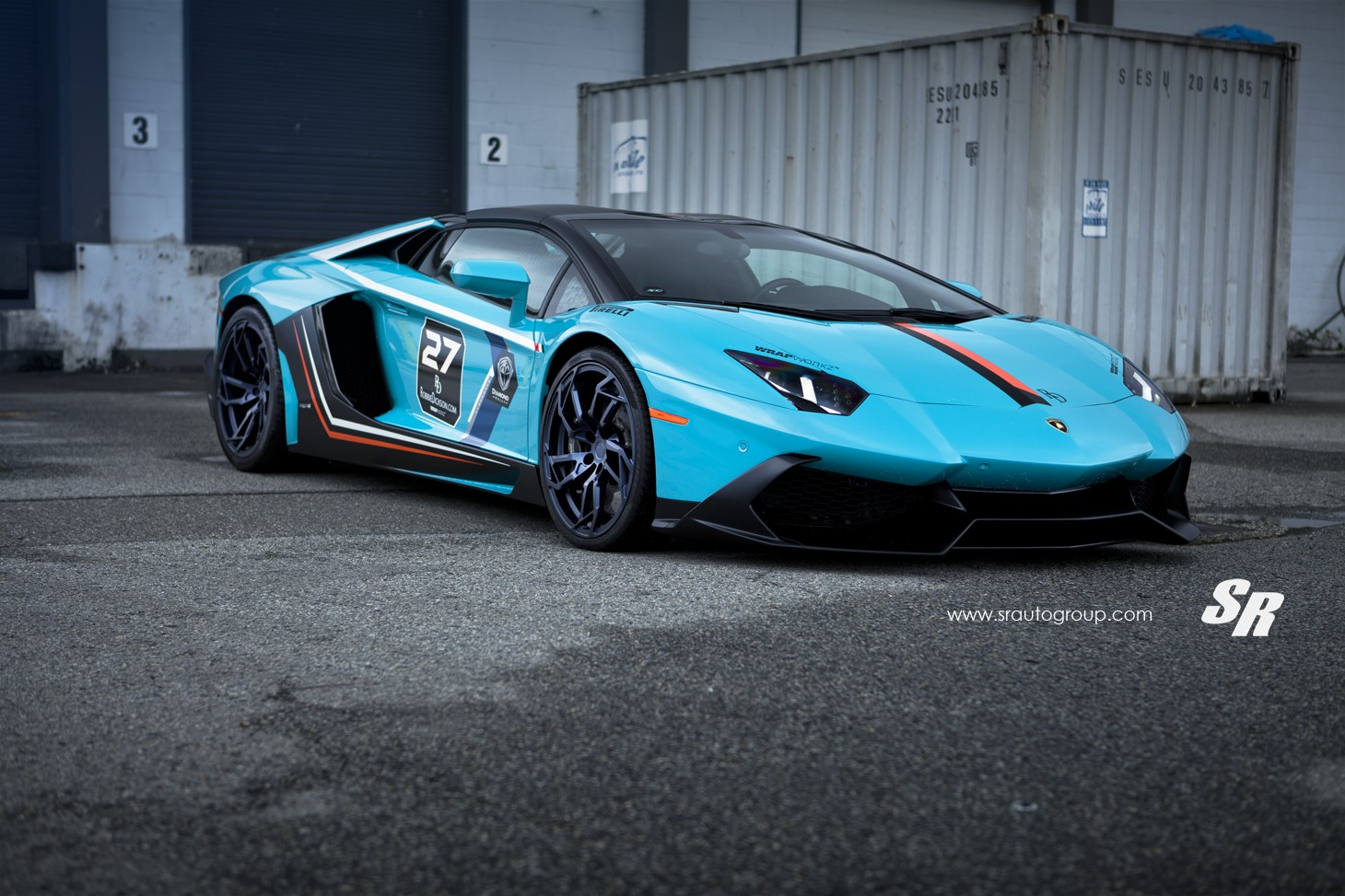 blue lamborghini aventador lp 700 4 sits on black pur wheels - Lamborghini Black And Blue