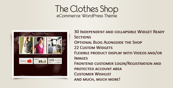 The Clothes Shop - WordPress eCommerceTheme