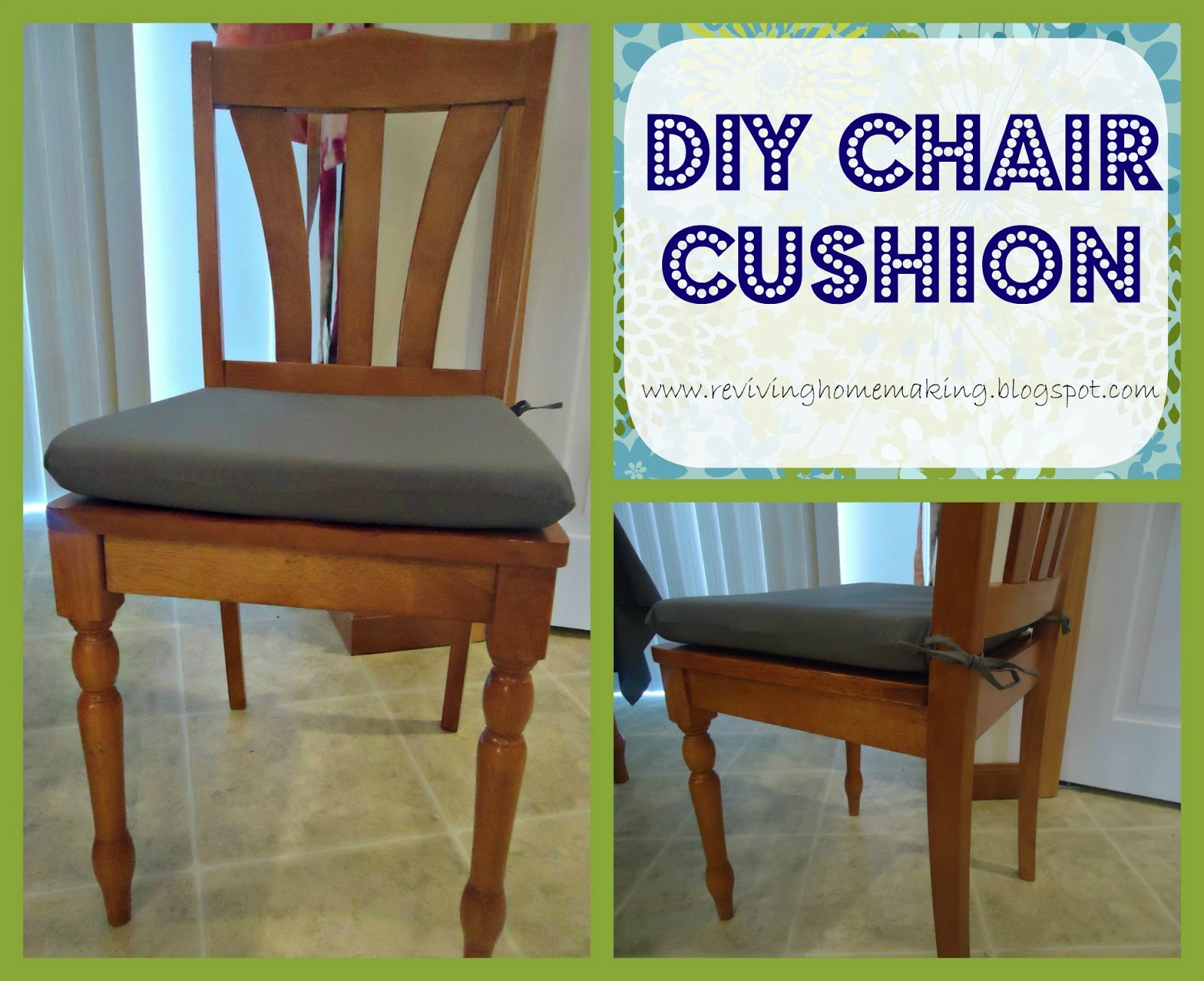 Reviving homemaking diy chair cushion for Dining room chair cushions